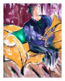 Purple Jazz Giclee Print by Terese Dombrowski