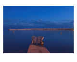 Blue Hour Over The Mediterranean Sea - Provence Photographic Print by Patrick Morand