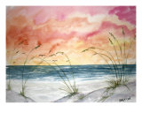 Abstract Beach Seascape Art Giclee Print by Derek Mccrea