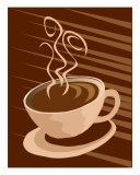 Stylized Coffee Cup Illustration Giclee Print by Stasys Eidiejus