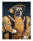 English Bull Dog As Holbeins Henry VIIi Giclee Print by Louise Francke