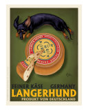 Langerhund Feiner Kase - Dachshund Giclee Print by Chad Otis