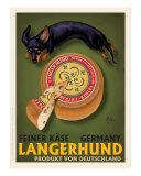 Langerhund Feiner Kase - Dachshund Giclee Print by Chad Otis