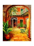 Creole Courtyard Reproduction procédé giclée par Diane Millsap