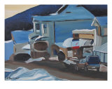 A Stop At The Corner Store, Ndb, Quebec, Canada Giclee Print by Francois Fournier