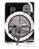 Robot Giclee Print by Derek Mckindles