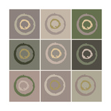 Nine Patch Circles In Circles Prints by Ricki Mountain