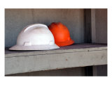 Hard Hats At Rest Photographic Print by Mand&#233; Peer