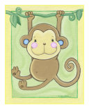 Monkey Giclee Print by Cheryl Burke