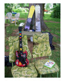 Guitar,Peace Sign Woodstock Style Photographic Print by Karin Kalabra