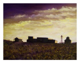 Dawn Breaking In The Ole West 4 Giclee Print by Lloyd Voges