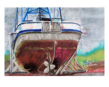 063009 Dry Docked Fishing Boat Alaska Photographic Print by Garland Oldham