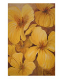 Yellow Flowers Giclee Print by Louise Swanepoel