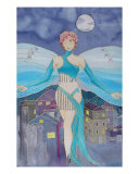 Midnight Fairy Giclee Print by Elizabeth Kalman