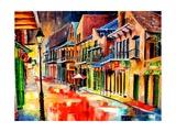 St Peter Street Jive - New Orleans Giclee Print by Diane Millsap