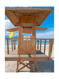 Lifeguard Hut on the Beach, Carolina, Puerto Photographic Print by George Oze