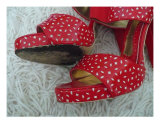 Red Shoes Photographic Print by Florene Welebny