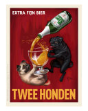 Twee Honden - Pugs Giclee Print by Chad Otis