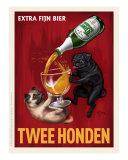 Twee Honden - Pugs Giclee Print by Chad Otis