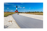 Boardwalk and Lighthouse, Fire Island, New York Photographic Print by George Oze