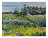On A Field Of Golden Rods Giclee Print by Francois Fournier