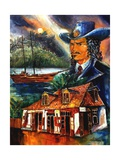 The Legend Of Jean Lafitte Giclee Print by Diane Millsap