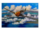 Me 109S Crossing The Channel Giclee Print by jack connelly