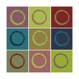 Nine Patch Circle & Colors Posters by Ricki Mountain