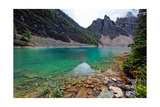 Clear Glacial lake, Alberta, Canada Photographic Print by George Oze