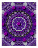 Acryl Beautu With Purple Dots Giclee Print by Pepita Selles