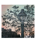 Vintage Modern Street Lamp Art Deco Print Giclee Print by Derek Mccrea
