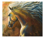 Horses - Autumn Dances Giclee Print by Art By Kim