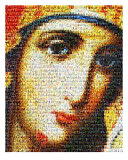 Mosaic Of Virgin Mary With Saints Photographic Print by Temur Lursmanshvili