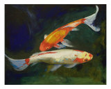 Feng Shui Koi Fish Giclee Print by Michael Creese