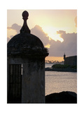 Sentry Post In San Juan Bay, Puerto Rico Photographic Print by George Oze