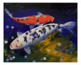 Bekko Koi Fish Giclee Print by Michael Creese