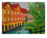 Canal In Germany Giclee Print by Michael Forzato