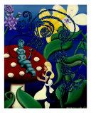 The Blue Caterpillar (Wonderland) Giclee Print by Derek Mckindles