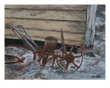 Old Antique Farm Plow Seeder Giclee Print by Derek Mccrea