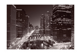 Chicago River Bend, Black & White Photographic Print by Steve Gadomski