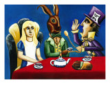 Wonderland Tea Party Giclee Print by Derek Mckindles