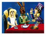 Wonderland Tea Party Giclee Print by Derek Mckindles