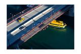 Chicago River Crossing Impressão fotográfica por Steve Gadomski