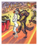 Salsa De Los Perros Giclee Print by Alla Bespalov