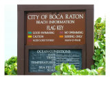 Boca Beach Sign Photographic Print by Florene Welebny