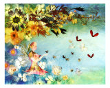 Butterfly Angel Giclee Print by Shelley Xie