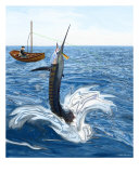 Old Man And The Sailfish Giclee Print by Ralph Martens