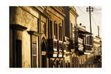 Facades In Golden Light, Old San Juan, Pr Photographic Print by George Oze