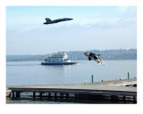 Orca Killer Whale Blue Angels Lake Washington Photographic Print by Teo Alfonso