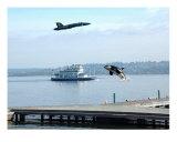 Orca Killer Whale Blue Angels Lake Washington Photographic Print by Teo Alfonso